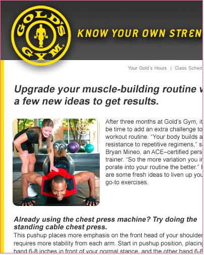 Golds Gym Email