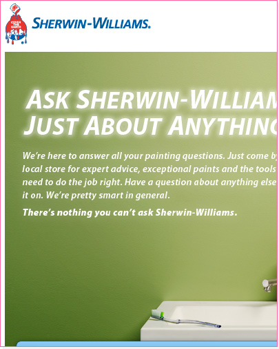 Sherwin-Williams Landing Page